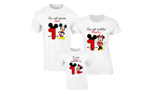 Set de tricouri albe pentru Parinti fericiti de fetita S121
