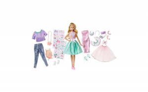 Set de moda cu papusa. Barbie. 51x6x32.5 cm. multicolor