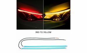 Set 2 benzi LED STOP lumina rosie, cu functie de semnal secvential, 30 cm lungime