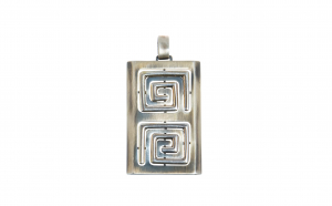 Pandantiv din argint cu elemente geometrice