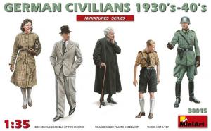 1:35 German Civilians 1930-40s - 5 figures 1:35