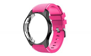 Curea Silicon Premium MTP Pink 22mm Quick Release pentru Huawei Watch GT