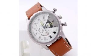 Ceas Brown + White Edition, la doar 130 RON in loc de 299 RON
