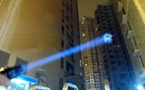 Lanterna cu acumulator, lupa cu zoom si semnal SOS