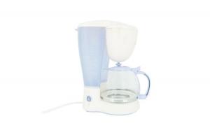Filtru de cafea Victronic, 800 W, 10-12 Cesti, Alb/Bleu + Set cutite 3 piese cadou