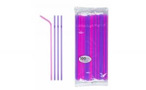 Paie Plastic Split Fuchsia Violet 5x240 mm - 100 buc JstJ