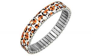Bratara otel inox model leopard