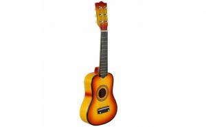 Chitara acustica din lemn, pentru copii, cu 6 corzi metalice, accesorii incluse