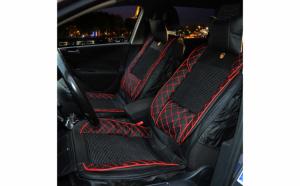 Huse scaune auto universale, Editie Premium, Textil cu Insertii Piele Ecologica