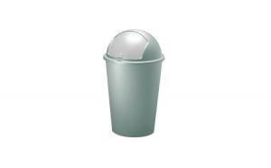 Cos gunoi cu capac glisant Plastic Verde