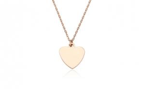 Lantisor placat cu aur de 18k Perfect Heart