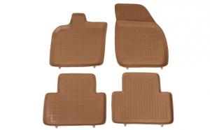Set covorase cauciuc stil tavita bej Volvo V50 04.04-12.12 rezaw