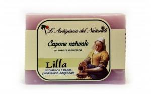 Sapun natural cu ulei esential de liliac si ulei de cocos, 100 g Laboratorio Naturale