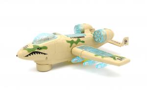 Avion de atac, armata, cu sunete si lumini