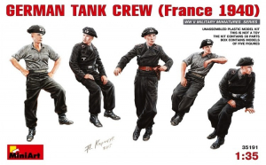 1:35 German Tank Crew (France 1940) - 5 figures 1:35