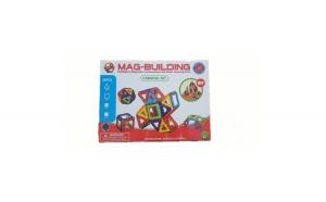 Joc contructie inteligent, magnetic, 3D, 28 piese carusel inclus, Mag-Building + Cadou