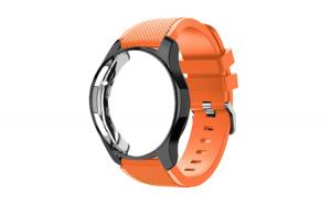 Curea Silicon Premium MTP Apricot Orange 22mm Quick Release pentru Huawei Watch GT