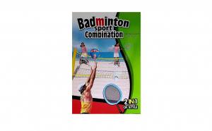 Set 2 in 1 volei si badminton cu fileu