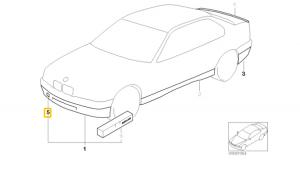 Capac locas carlig remorcare BMW E34 in