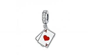 Talisman din argint 925 Poker Ace Double