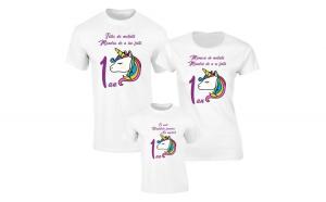 Set de tricouri albe pentru Parinti de motata S129