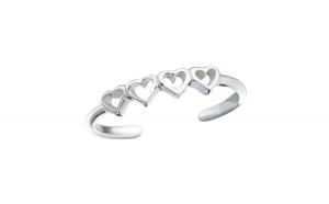 Inel de picior argint,  Inima, Reglabil, A4S21504