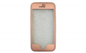 Husa iPhone 5 Flippy Full Silicone 360 - Roz-Auriu