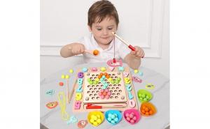 Joc Montessori 4 in 1 Pescuit Magnetic