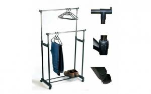 Suport pentru haine metalic, cu dimensiune ajustabila, din otel inoxidabil