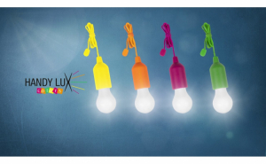 Set 4 becuri LED portabile, Handy Lux Colors