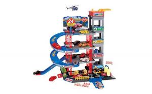 Garaj pentru copii cu 4 etaje 4 masini si 1 elicopter, 40x9x58 cm