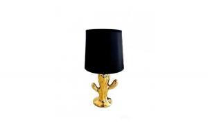 Lampa de birou model cactus, auriu/negru