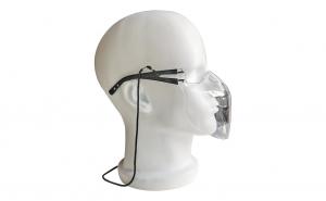 Masca protectie Profesionala, rama transparenta, brate negre, usoara, dezinfectabila, reutilizabila, fashion, Neo Mask Plus Pro policarbonat