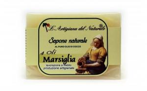 Sapun natural de Marsilia si ulei de cocos, 100 g Laboratorio Naturale
