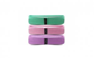 Set 3 benzi elastice, bumbac si latex, 3 niveluri de rezistenta, multicolor