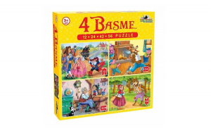 Puzzle 4 basme 12 ,24, 42, 56 EVO