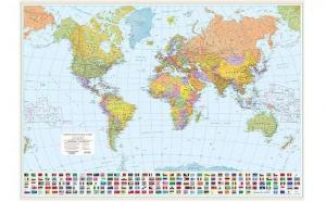 Harta Lumea Politica 140x100 cm, la 60 RON in loc de 130 RON
