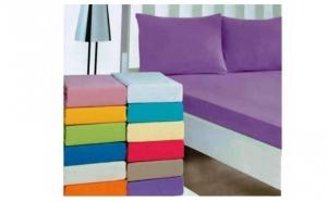 Cearsaf -husa de pat din bumbac- 2 bucati, la doar 89 RON in loc de 150 RON