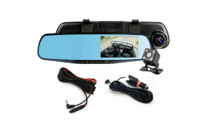 OGLINDA AUTO DVR RETROVIZOARE, CAMERA FATA-SPATE FULL HD 1080