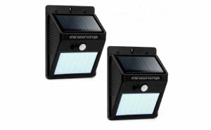 Set 2  x Lampa solara 30 LED, senzor miscare si lumina