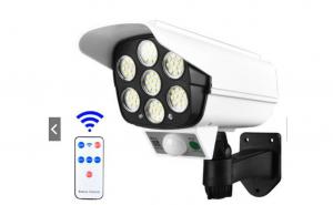 Lampa solara 2 in 1 ,senzor de miscare,tip camera supraveghere, telecomanda, 77 LED