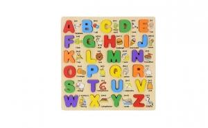 Puzzle din lemn 3D Alfabetul