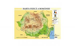 Harta Fizica a Romaniei - Plansa A4