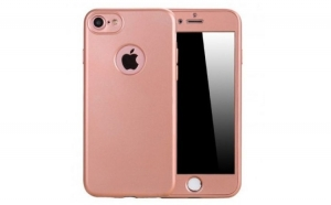Husa iPhone 6 / 6S Flippy Full Silicon 360 - Roz-Auriu
