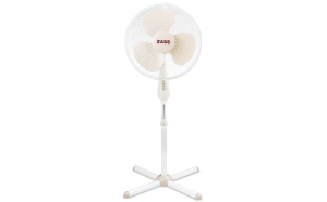 Ventilator cu picior Zass ZF 1601, 50 W, 3 viteze, 41cm diametru, Alb