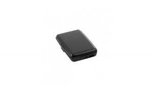 Baterie externa cu suport de carduri, 1800 mAh, 5 compartimente pentru carduri, negru