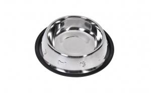Castron metalic pentru hrana animale, antiderapant, 950 ml, 17 cm