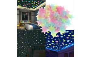 Set 100 stelute fosforescente, lumineaza