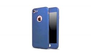 Husa iPhone 6 Plus Flippy Full Silicon 360 - Albastru