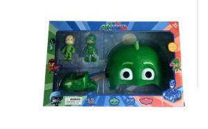 Set Eroi in Pijama Sopi, figurine, masina si masca